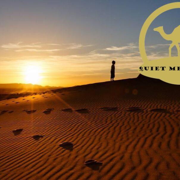 Sunrise in dunes with 4×4